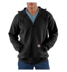 d2e22238e713 Carhartt Men s Midweight Hooded Zip Front Sweatshirt (Charcoal Heather