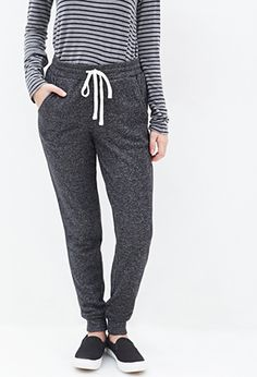 FOREVER 21 Heathered French Terry Sweatpants from Forever 21
