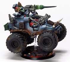 """Space Wolf """"Fenrir"""" Rapid Attack Vehicle. W/ heavy-bolter/multimelta."""