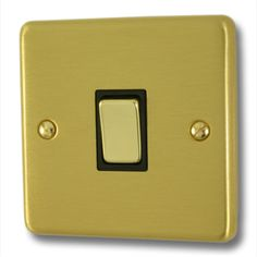 Satin Brass Light Switch from Socket Store £4.60