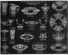 Crystal Glassware Pattern Identification | ... Antiques - Misidentified or easily mistaken Elegant Glassware Patterns