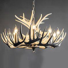 Nordic Amerikanischen Retro Restaurant Lampe Kronleuchter Weiss Geweih Creative Arts Beleuchtung Wohnzimmer Schlafzimmer Mittelmeer