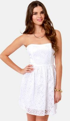 BB dakota by jack wesely embroidered white dress :)