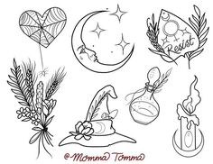 I love the from this I made for our a few months ago. If you would like any of these images or w… – Tattoo Sketches & Tattoo Drawings Tattoo Sketches, Tattoo Drawings, Body Art Tattoos, New Tattoos, Art Sketches, Tattoo Flash Sheet, Tattoo Flash Art, Portland Tattoo, Witch Tattoo