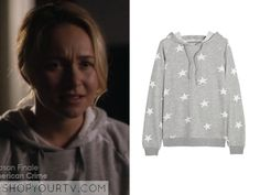 Nashville: Season 3 Episode 22 Juliette's Grey Star Print Hoodie