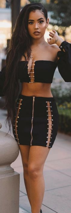 7 Daring Outfit Ideas That Will Make 2018 Outstanding Mode Outfits, Sexy Outfits, Sexy Dresses, Fashion Outfits, Womens Fashion, Looks Style, My Style, Sexy Women, Vestidos Sexy