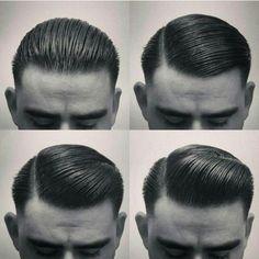 mens retro slick rockabilly hair