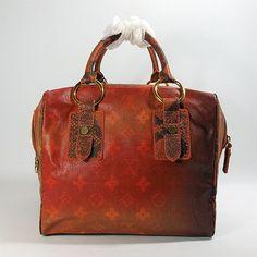 brown Louis Vuitton designer travel handbags M95737
