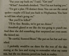 Percy and Annabeth firts kiss