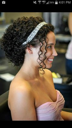 Wedding hair for naturally curly hair