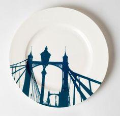 London's Albert Bridge dinner plate by @snowdenflood