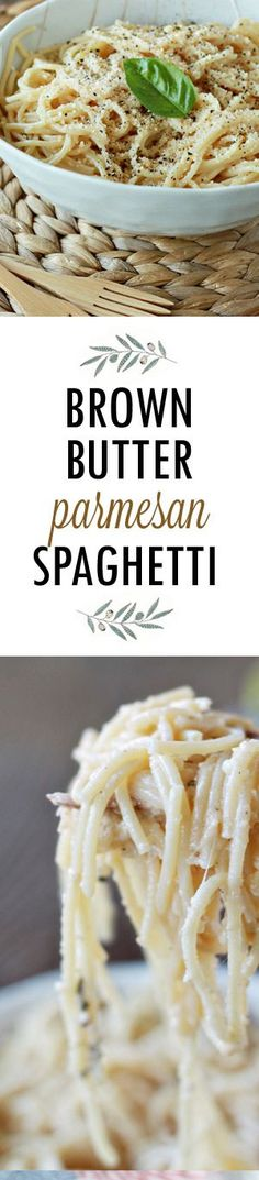 Brown Butter Parmesan Spaghetti recipe - Nutty brown butter, grated Parmesan cheese, and pasta water mingle with al dente spaghetti to create pure magic. Best of all, this dish is ready in a matter of minutes.