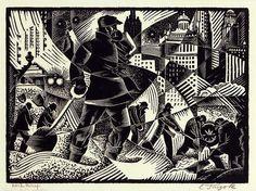Charles Turzak (American artist, 1899-1986) Work Relief, 1935