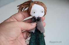 Young Girl Art doll brooch Boho girl by miopupazzo on Etsy