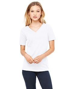 3bd584fbab707 T-Shirts - Ladies  Relaxed Jersey Short-Sleeve V-Neck T-