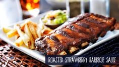 Roasted Strawberry Barbecue Sauce