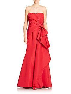 Carolina Herrera Icon Collection Silk Sweetheart Gown