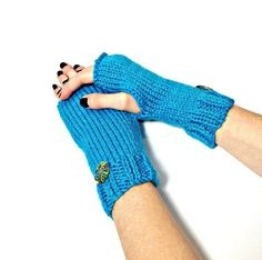 Fingerless Gloves Hand Knit Gloves Texting by ArlenesBoutique, $27.00