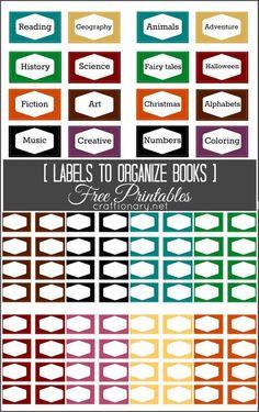 Free Book Label Printables (books Organization