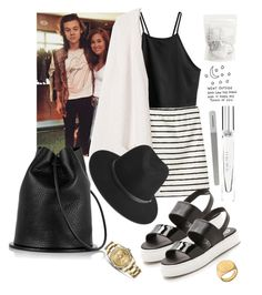 """Meet & great with Harry and his cousin."" by alizee-fenayon ❤ liked on Polyvore featuring H&M, Monki, Jeffrey Campbell, Jennifer Zeuner, rag & bone, Rolex and Marchesa"