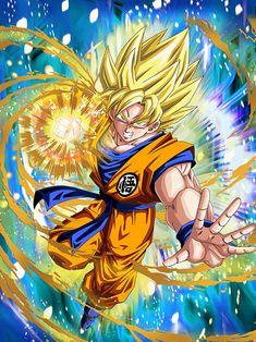[Convulsing Rage] Super Saiyan Goku/Dragon Ball Z: Dokkan Battle Dragon Ball Gt, Dragon Z, Majin Boo Kid, Goku Super Saiyan, Cool Backgrounds Wallpapers, Manga Dragon, Super Anime, Fan Art, Ronaldo