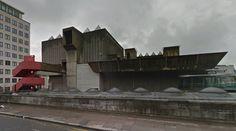 Hayward Gallery - 1968 by N.Engleback, R.Herron & W.Chalk - #architecture #googlestreetview #googlemaps #googlestreet #uk #london #brutalism #modernism