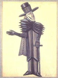 Costume design for Dickens Christmas Bells - Serge Sudeikin
