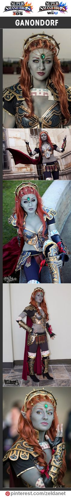Ganondorf by Ely Renae in Super Smash Bros crossplay series | @nintendo #3DS #WiiU Credits in original post at http://www.pinterest.com/zeldanet/super-smash-bros-cosplay-series/