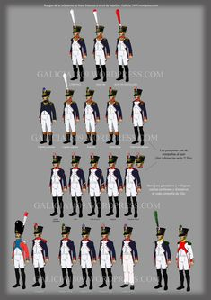 french line infantry batallion ranks galicia1809.wordpress
