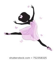 Silhouette of beautiful little princess. Silhouette of cute little ballerina in pink dress isolated on white background. Ballet Studio, Ballet Art, Little Girl Ballerina, Little Princess, Ballerina Silhouette, Princess Silhouette, Dance Bedroom, Ballerina Drawing, Nutcracker Sweet