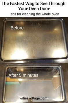 Easy way to deep clean the oven glass and racks with baking soda and vinegar. - Easy way to deep clean the oven glass and racks with baking soda and vinegar. Deep Cleaning Tips, House Cleaning Tips, Cleaning Solutions, Spring Cleaning, Oven Cleaning Hacks, Cleaning Checklist, All You Need Is, That Way, Tablet Recipe