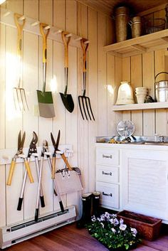 Tool organization -great for garden shed