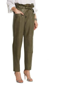 Emilio Pucci Leather tapered pants