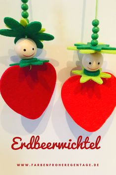 (Advertising) For the spring, we have made great strawberry tricks - Easy Crafts for All Diy Crafts To Do, Bead Crafts, Arts And Crafts, Mothers Day Crafts For Kids, Christmas Gifts, Christmas Ornaments, Art For Kids, Projects To Try, Strawberry
