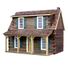 Amazon.com: Real Good Toys Adirondack Cabin Kit - 1 Inch Scale: Toys & Games