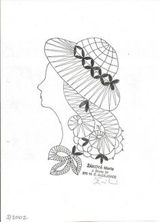 Looking for heds made with these prickings Bobbin Lace Patterns, Embroidery Patterns, Crochet Patterns, Cutwork Embroidery, Dot Art Painting, Parchment Craft, Thread Art, Needle Lace, Adult Coloring Pages