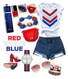 """""""4th of July"""" by anubhuti-tandon ❤ liked on Polyvore featuring Gucci, Chanel, Christian Dior, Tommy Hilfiger and Anine Bing"""