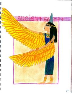 Waldorf ~ 5th grade ~ Ancient Egypt ~ Isis ~ main lesson book