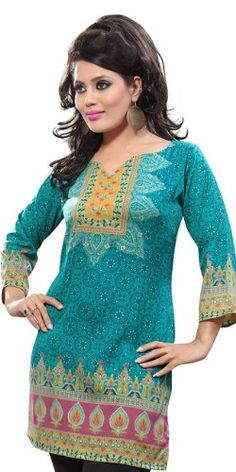 $9.99 BombayFashions 'LOWEST PRICE Guaranteed!' DISCOUNTED Womens Printed Bohemian Gypsy Blouse Tunic Top KURTI (5 Sizes)- 26 DESIGNS - http://cheune.com/a/42440789891406897