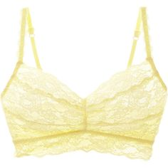 Cosabella Never Say Never Sweetie Soft Bra ($32) ❤ liked on Polyvore featuring intimates, bras, yellow, cosabella, yellow bra, cosabella bras and soft cup bra