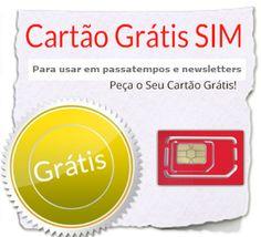 Tudo a Custo Zero: Cartões de Telemóvel Gratis para usar em Passatempos, OLX...