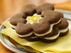 Enjoy these light and fluffy gingered flavored sandwich cookies - perfect dessert for a crowd.