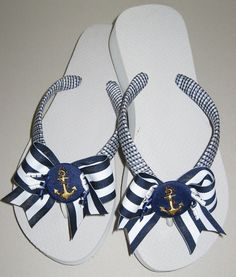 Decorated Flip Flops, Bow Flip Flops, Ribbon Flip Flops, Wrapped Flip Flops, Summer Flip Flops, Beach Flip Flops, Wedge Flip Flop, Martini