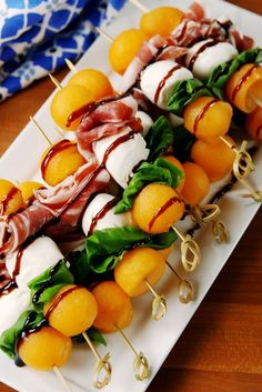 53 Most Delish Bridal Shower Appetizers These *classy* skewers are the easy summer app you've been searching for. Get the recipe from Delish.These *classy* skewers are the easy summer app you've been searching for. Get the recipe from Delish. Healthy Meal Prep, Healthy Dinner Recipes, Healthy Snacks, Cooking Recipes, Summer Appetizer Recipes, Light Summer Appetizers, Summer Appitizers, Appetizer Ideas, Snacks Recipes
