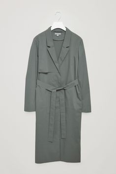 COS image 4 of Tailored trench coat in Sage Green