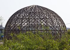 Vo Trong Nghia unveils bamboo domes under construction in Vietnam.