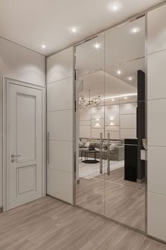 Photo design project of an apartment interior Moscow, Leninsky Prospect, building 105 sq. Wardrobe Door Designs, Wardrobe Design Bedroom, Closet Designs, Home Room Design, Interior Design Living Room, Interior Decorating, House Design, Bedroom Cupboard Designs, Dressing Room Design