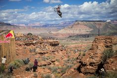 Kelly McGarry rides at finals during Red Bull Rampage in Virgin Utah USA on 29 September 2014.