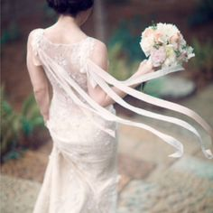 Stunning #realbride in the Claire Pettibone 'Aphrodite' wedding dress | Photo: Three Nails Photography http://www.clairepettibone.com/aphrodite