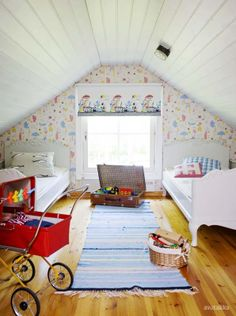 kids room in the attic..